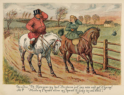 Fence Drawing -  An Attractive Widow Asks  Mr Popple by Mary Evans Picture Library