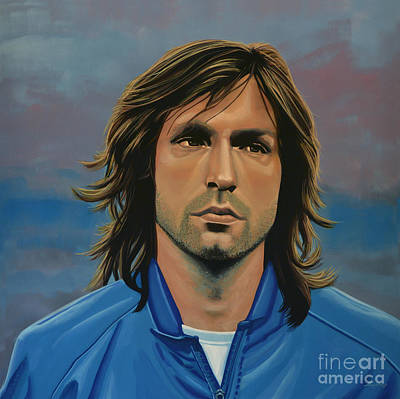 League Painting -  Andrea Pirlo by Paul Meijering