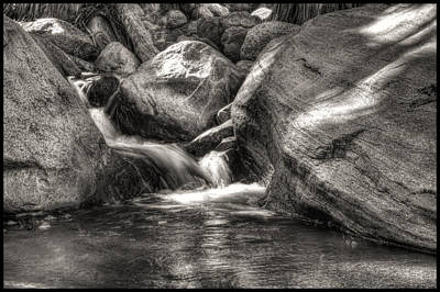Photograph -  Andreas Creek Waterfall by Roger Passman