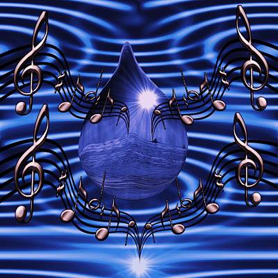 Digital Art -  Angelic Sounds On The Waves by Barbara St Jean