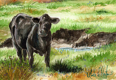 Painting -  Angus by Linda L Martin
