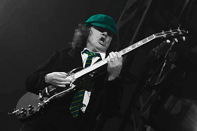 Michael Jackson Digital Art -  Angus Young At The Tacoma Dome In Tacoma by Don Kuing