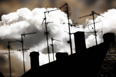 Photograph -  Antennas And Chimneys by Selke Boris