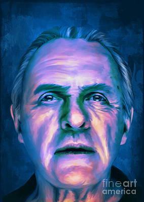 Anthony Hopkins Painting -  Anthony by Andrzej Szczerski