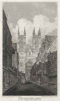 Westminster Abbey Drawing -  Antiquated Scene With  The Abbey by Mary Evans Picture Library