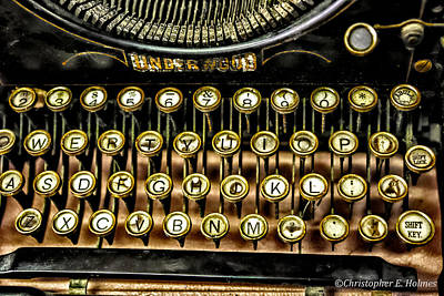 Typewriter Keys Photograph -  Antique Keyboard by Christopher Holmes