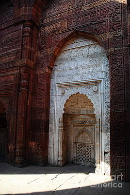 Photograph -  Arches Of Qutb Minar  by Jacqueline M Lewis
