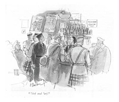 Scottish Drawing -  'arf And 'arf by Perry Barlow
