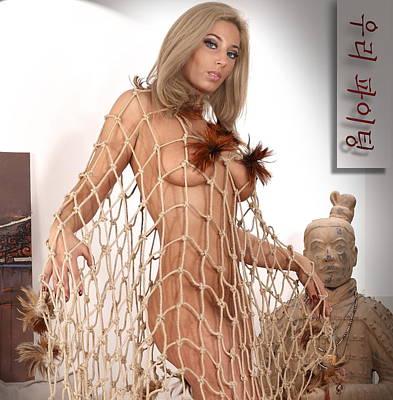 Pyrography -  Art Nude A by Emil Jianu