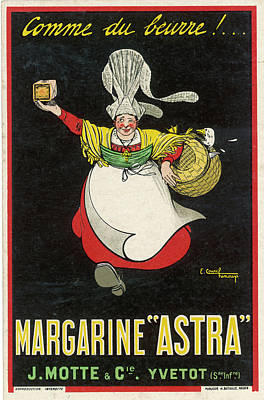 Margarine Drawing -  Astra Margarine -  Just Like Butter ! by Mary Evans Picture Library