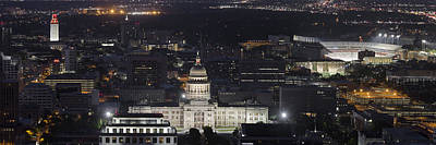 Austin Skyline Photograph - Panorama Of The State Capitol From The Austin Skyline by Rob Greebon
