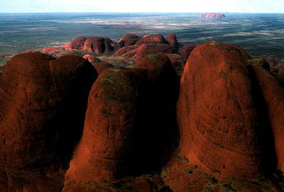 Photograph -  Australia - Uluru Aerial View by Jacqueline M Lewis