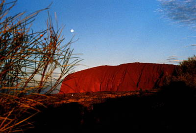 Photograph -  Australia - Uluru At Sundown by Jacqueline M Lewis