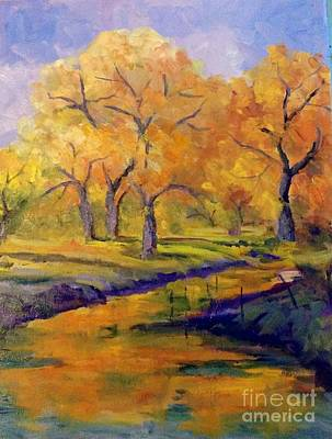 Painting -  Autumn Along Bishop Canal by Pat Crowther