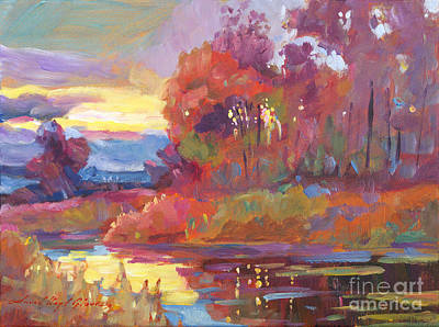 Dramatic Colors Painting -  Autumn Light by David Lloyd Glover