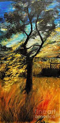 Art Print featuring the painting  Autumn Tree by Maja Sokolowska