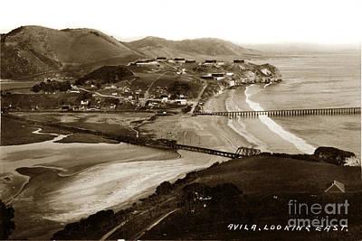 Keith Richards -  Avila Beach Looking east San Luis Bay California circa 1920 by California Views Archives Mr Pat Hathaway Archives