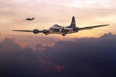 Skyscape Digital Art -  B17- Last Home by Pat Speirs