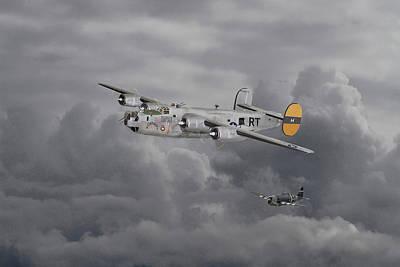 B24 Liberator  446th Bomb Group Art Print by Pat Speirs