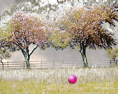 Digital Art -  Ball Field With Rolling Roger by Lizi Beard-Ward