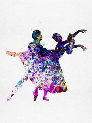 Ballet Dancers Watercolor 1 Print by Naxart Studio