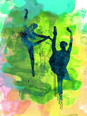 Girls Mixed Media -  Ballet Watercolor 1 by Naxart Studio