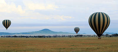 Photograph -  Balloons Over Serengeti by Tony Murtagh