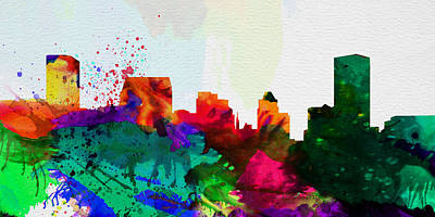 Baltimore Painting -  Baltimore City Skyline by Naxart Studio