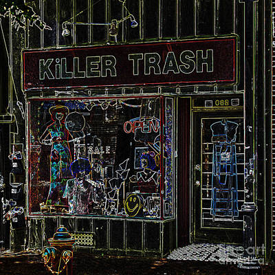 Photograph -  Baltimore Storefront Impression by Phil Cardamone