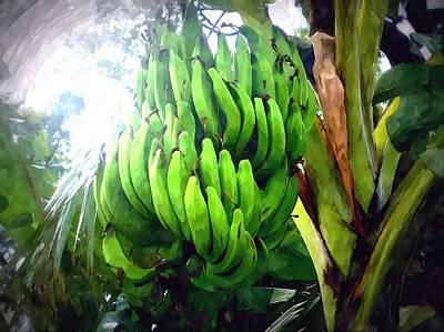 Fruit Tree Art Painting -  Banana Plants by Lanjee Chee