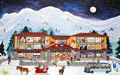 Banff Artist Painting -  Banff International Hotel Alberta Canada by Virginia Ann Hemingson