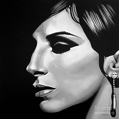 Peoples Art Mixed Media -  Barbra Streisand by Meijering Manupix