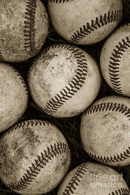 Game Photograph -  Baseballs by Diane Diederich