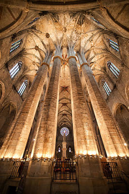 Basilica Of Santa Maria Del Mar In Barcelona Art Print