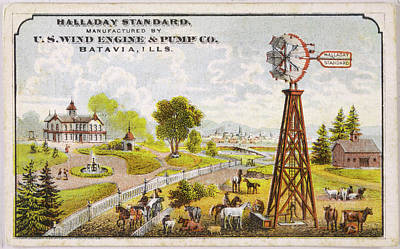 University Of Illinois Drawing -  Batavia, Illinois  Rural Scene by Mary Evans Picture Library