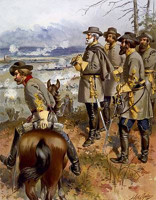 The General Lee Painting -  Battle Of Fredericksburg by American School