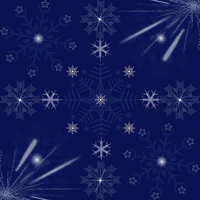 Beautiful Snowflakes Background  Original