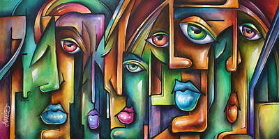 Michael Lang Painting - ' Believers ' by Michael Lang
