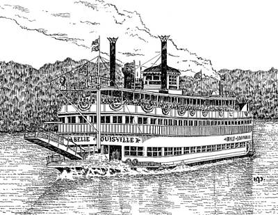 Belle Of Louisville Original by Robert Powell