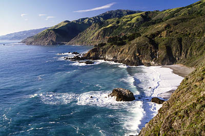 Cliff Photograph -  Big Sur At Big Creek by George Oze