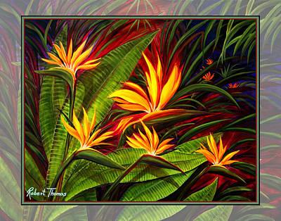 Robert Thomas Painting -  Bird Of Paradise by Robert Thomas