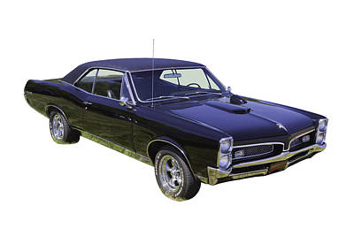 Photograph -  Black 1967 Pontiac Gto Muscle Car by Keith Webber Jr