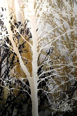Photograph - Forest -  Black Tan Cream 5 Of 10 by Jacqueline M Lewis