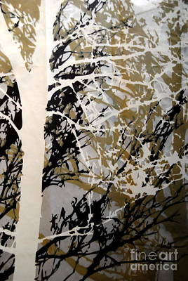 Photograph -  Forest - Black Tan Cream 8 Of 10 by Jacqueline M Lewis