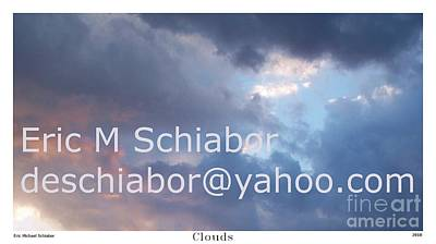Blue And Purple Parting Clouds Print Art Print by Eric  Schiabor