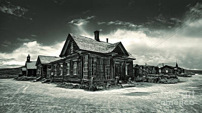 Bodie Ghost Town Panorama 02 Art Print by Gregory Dyer