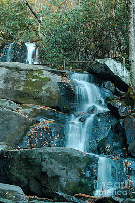 Art Print featuring the photograph  Bottom Of Laurel Falls by Patrick Shupert