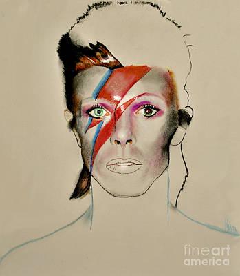 David Bowie Drawing - David Bowie by Maja Sokolowska