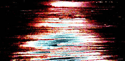 Depression Mixed Media -  Brain Scan Data Lost At Sea by Sir Josef - Social Critic -  Maha Art