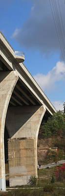 Mixed Media -   Bridge Skyview Vertical Panorama Oakville Ontario Canada         by Navin Joshi